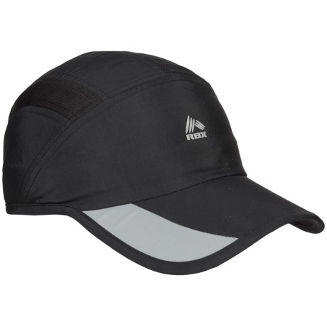 RBX Runner Baseball Cap - Adjustable Back Strap (For Men) in Black