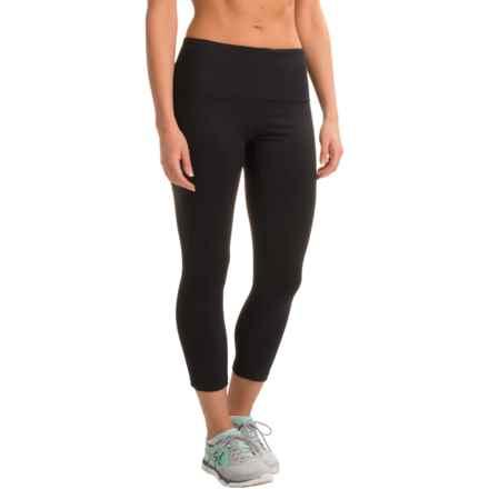 RBX Running Capri Leggings - High Waist (For Women) in Black - Closeouts