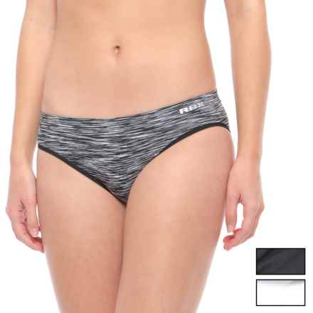 RBX Seamless Hipster Panties - 3-Pack (For Women) in Black/White/Black Space Dye - Closeouts