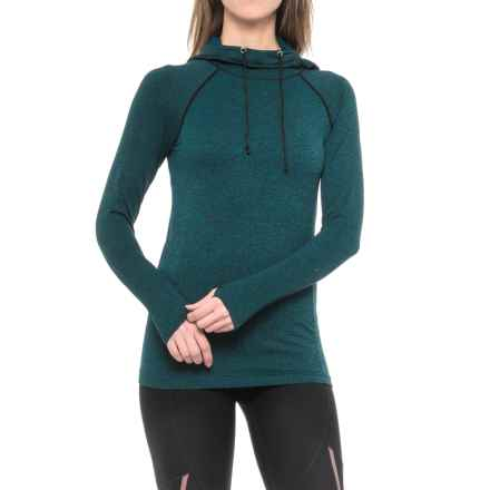 RBX Seamless Hoodie (For Women) in Deep Sea Blue W/Black - Closeouts
