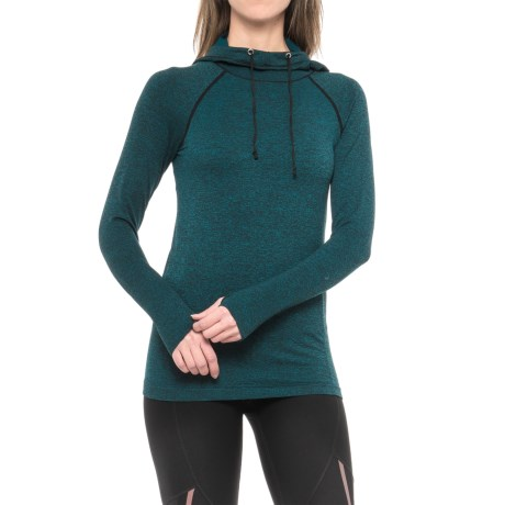 RBX Seamless Hoodie (For Women) in Deep Sea Blue W/Black