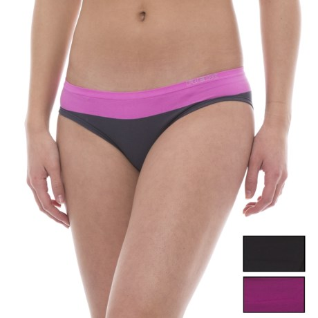 RBX Seamless Panties - Hipster Briefs, 3-Pack (For Women) in Black/Cherry Pink/Rose Slate Pink