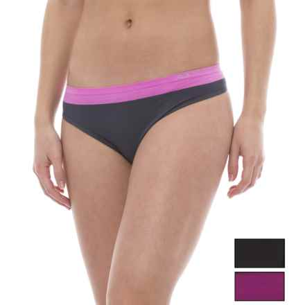RBX Seamless Panties - Thong, 3-Pack (For Women) in Black/Cherry Pink/Rose Slate Pink - Closeouts