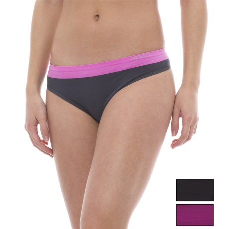 RBX Seamless Panties - Thong, 3-Pack (For Women) in Black/Cherry Pink/Rose Slate Pink