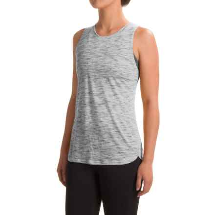 RBX Shirred Back Tank Top - Racerback (For Women) in White Combo - Closeouts