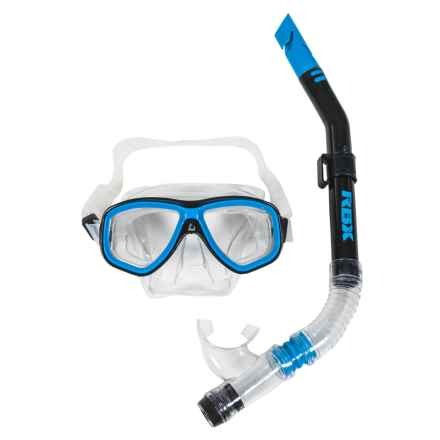 RBX Silicone Mask and Snorkel Set in Blue - Closeouts
