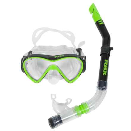 RBX Silicone Mask and Snorkel Set in Green - Closeouts