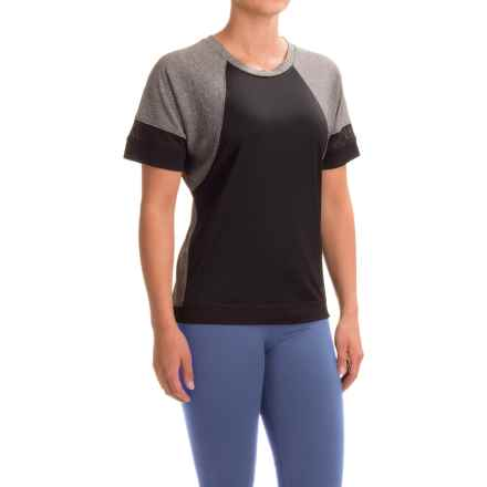 RBX Slouched Sleeve Shirt - Short Sleeve (For Women) in Charcoal Heather/Black - Closeouts