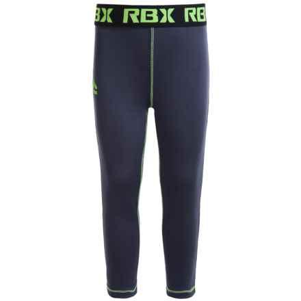 RBX Solid Capri Leggings (For Little Girls) in Asphalt Gray - Closeouts