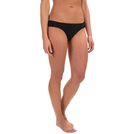 RBX Solid Strap Bikini Bottoms (For Women) in Black