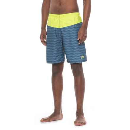 RBX Solid Swim Trunks - Built-In Briefs (For Men) in Blue/Neon Yellow - Closeouts