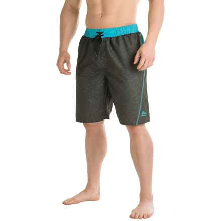 RBX Solid Swim Trunks - Built-In Briefs (For Men) in Grey - Closeouts