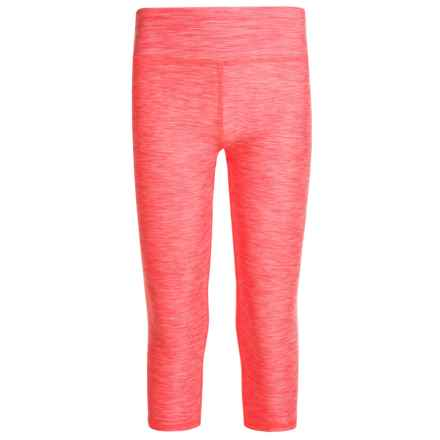 RBX Space Dye Capris (For Little and Big Girls) in Neon Coral Rose - Closeouts