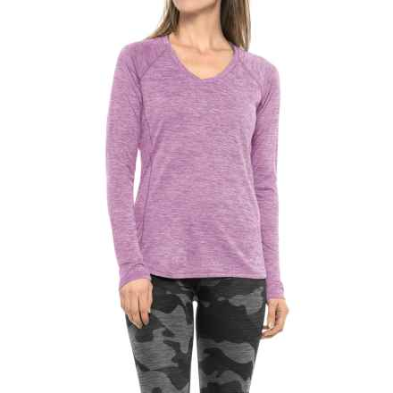 RBX Space-Dye T-Shirt - V-Neck, Long Sleeve (For Women) in Mauve - Closeouts