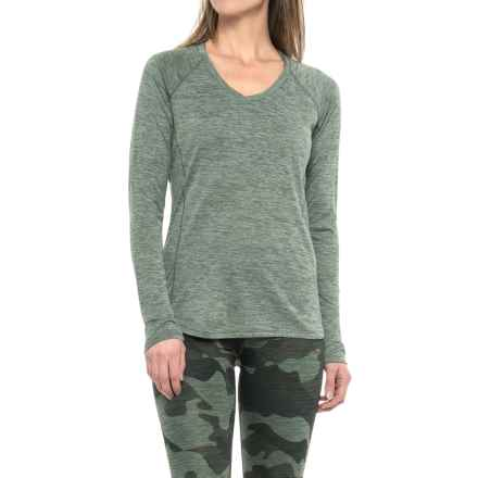 RBX Space-Dye T-Shirt - V-Neck, Long Sleeve (For Women) in Thyme - Closeouts
