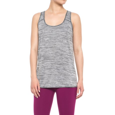 RBX Space-Dyed Jersey Crossover Tank Top (For Women) in Black Combo
