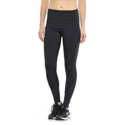 RBX Stratus Fleece-Lined Running Tights (For Women) in Black - Closeouts