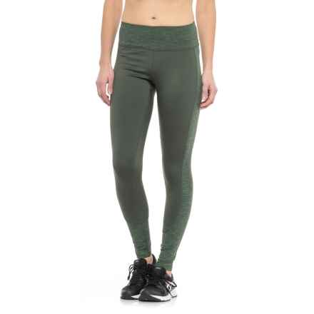 RBX Stratus Fleece-Lined Running Tights (For Women) in Olive - Closeouts