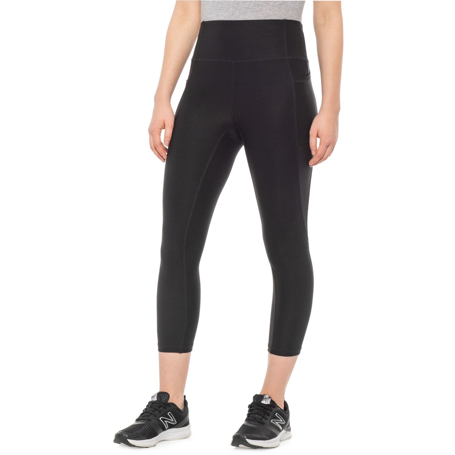 f7d17ee9ff199 RBX Stretch Mesh Capris (For Women) in Black Combo ...