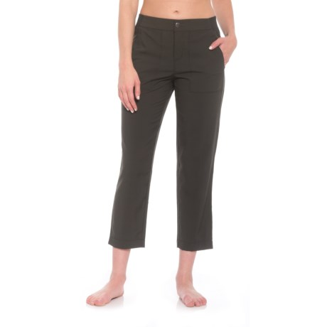 RBX Stretch Woven Crop Pants (For Women) in Black