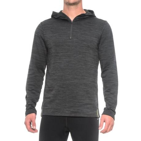 RBX Striated Hoodie Shirt - Zip Neck, Long Sleeve (For Men) in Black