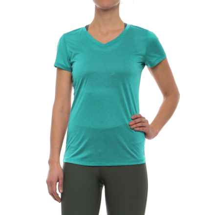 RBX Stripe V-Neck Shirt - Short Sleeve (For Women) in Jade Green - Closeouts