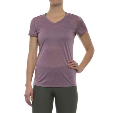 RBX Stripe V-Neck Shirt - Short Sleeve (For Women) in Mauve - Closeouts