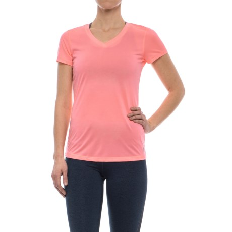 RBX Stripe V-Neck Shirt - Short Sleeve (For Women) in Rosewater