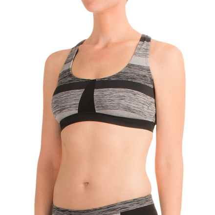 RBX Striped Bikini Top - Racerback, Removable Cups (For Women) in Black - Closeouts