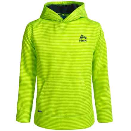 RBX Striped Tech Fleece Hoodie (For Big Boys) in Neon Yellow - Closeouts