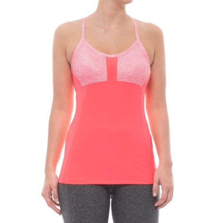 RBX Tank Top with Shelf Bra (For Women) in Coral Reef/Coral Reef