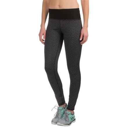 RBX Tempo Jacquard Leggings (For Women) in Chevron Black - Closeouts