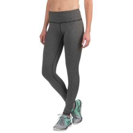 RBX Tempo Jacquard Leggings (For Women) in Pixelated Stripe - Closeouts