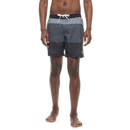 RBX Three-Tone Striped Boardshorts (For Men) in Black - Closeouts