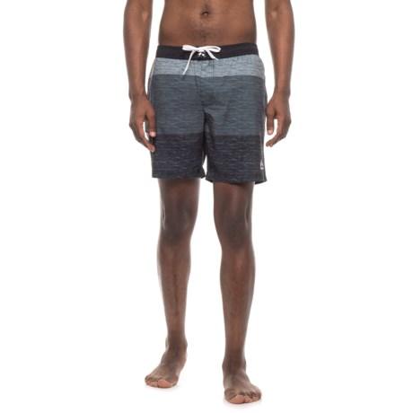 RBX Three-Tone Striped Boardshorts (For Men) in Black