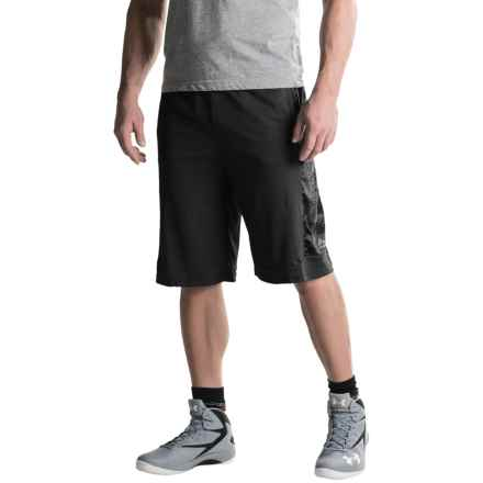 RBX Tonal Print Basketball Shorts (For Men) in Black - Closeouts