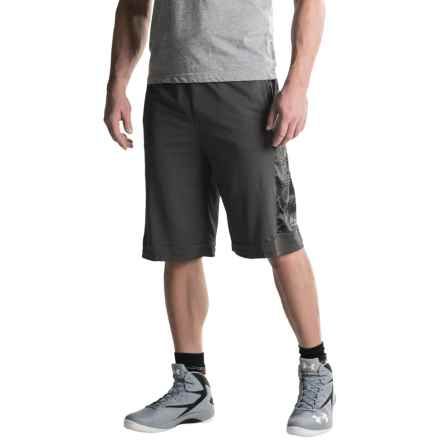 RBX Tonal Print Basketball Shorts (For Men) in Graphite - Closeouts