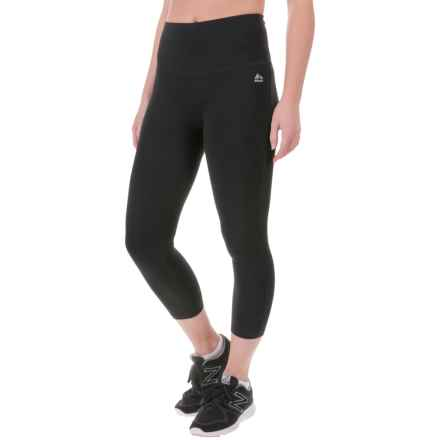 RBX Tummy-Control Cropped Leggings (For Women) in Black - Closeouts