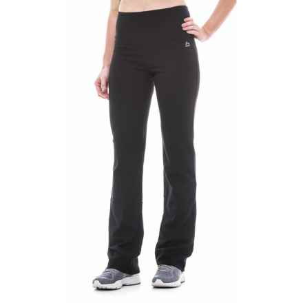 RBX Tummy Control Fitness Pants - Bootcut (For Women) in Black - Closeouts