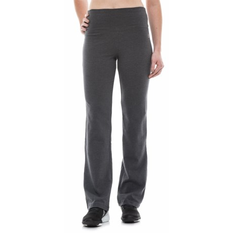 RBX Tummy Control Fitness Pants - Bootcut (For Women) in Grey