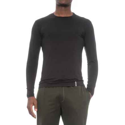RBX Ultrasoft High-Performance Crew Shirt - Long Sleeve (For Men) in Black - Closeouts