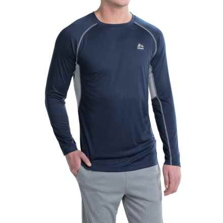 RBX Ventilated Compression Shirt - Long Sleeve (For Men) in Navy/Grey - Closeouts