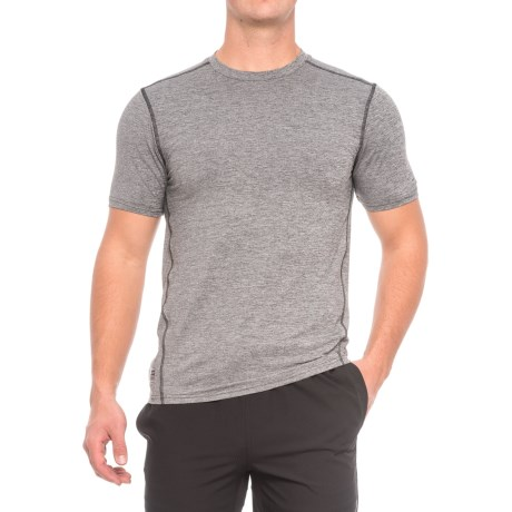 RBX X-Train Compression Pro Striated Shirt - Short Sleeve (For Men) in Charcoal