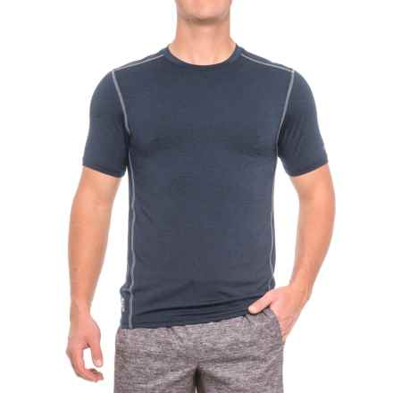 RBX X-Train Compression Pro Striated Shirt - Short Sleeve (For Men) in New Navy - Closeouts