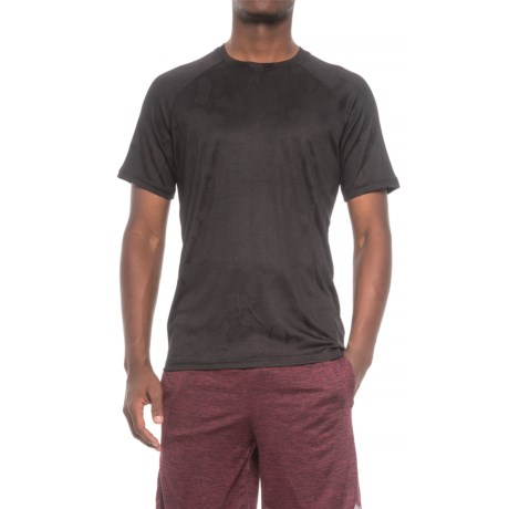 RBX X-Train Jacquard Mesh Raglan Shirt - Short Sleeve (For Men) in Black