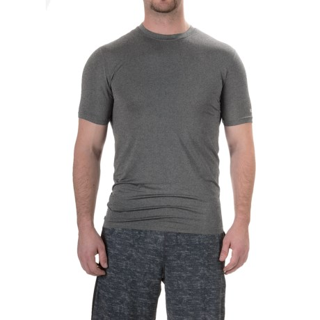 RBX XTrain Compression Shirt - Short Sleeve (For Men) in Charcoal Heather