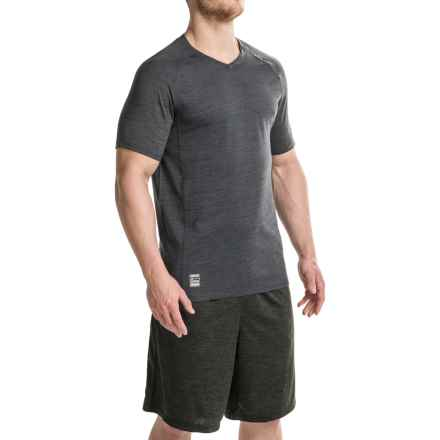 RBX XTrain Heathered Shirt - V-Neck, Short Sleeve (For Men) in Black Heather - Closeouts
