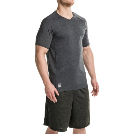 RBX XTrain Heathered Shirt - V-Neck, Short Sleeve (For Men) in Black Heather