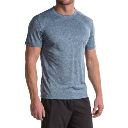 RBX XTrain High-Performance Heathered Shirt - Rotated Shoulders, Short Sleeve (For Men) in Dark Blue Heather - Closeouts