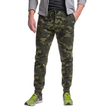 RBX Zip-Side Fleece Joggers (For Men) in Dark Green Camo - Closeouts